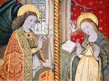 Sant'Agata dei Goti: Chiesa dell'Annunziata: l'Annunciazione